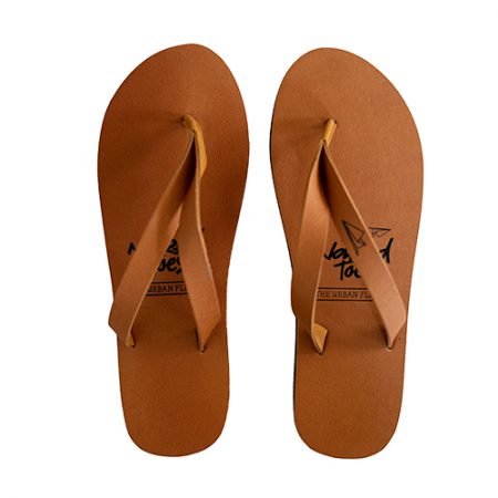 NakedToes vegan flipflops cognacbruin