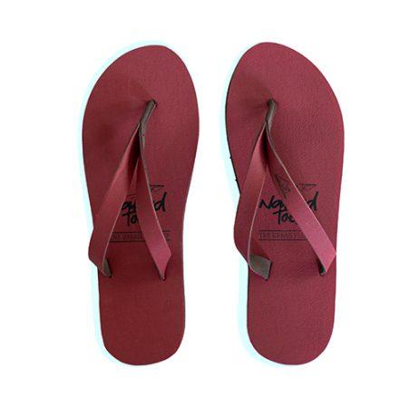NakedToes flipflops bordeaux rood