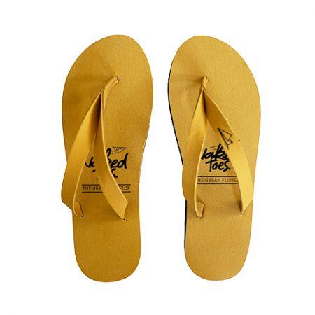 NakedToes slipper geel yellow